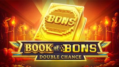 【ボンズカジノ】オリジナル限定スロット《Book of Bons》が新登場!!